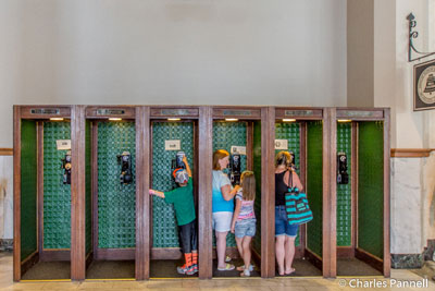 Pay phone booths in the Union Passenger Depot