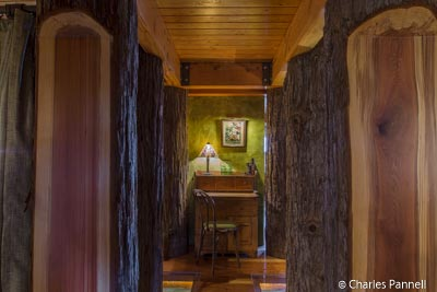 """""""Forest"""" entry to room xxx at The Inn at Newport Ranch"""