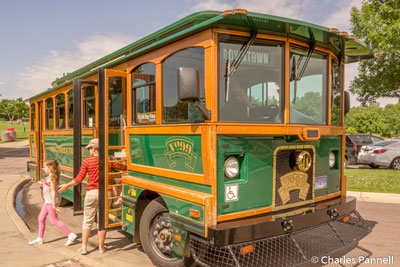 The Sioux Falls downtown trolley
