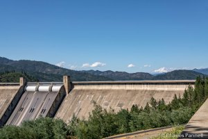 Shasta Dam with Mount Shasta in the background