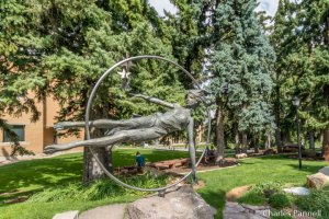 Star Maker by Angelo Caravaglia and Nolan Johnson on the SUU campus sculpture stroll