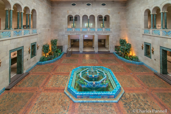 The Robert H. and Mildred T. Storz Fountain Court in the Joslyn Musem