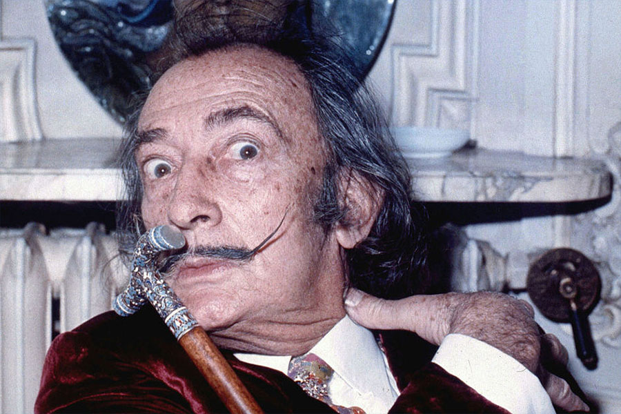 Salvador Dalí in 1972 By Allan warren (Own work) [CC BY-SA 3.0 or GFDL], via Wikimedia Commons