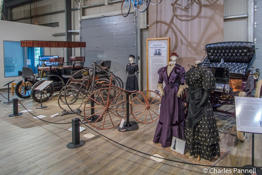 Period clothing is included in the auto displays