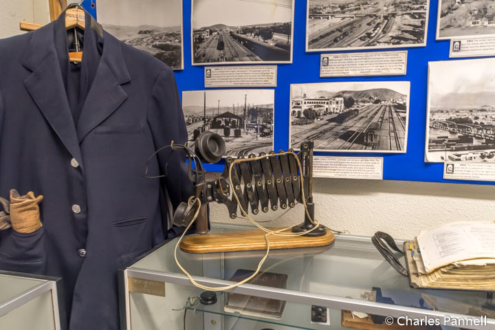 Railroad photos, uniforms and gadgets in the Western America Railroad Museum