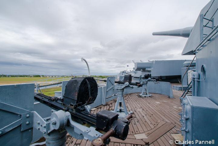 Top Deck of the USS Alabama