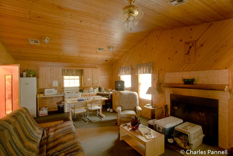 Great room in the Cabin on the Lake at Greenleaf State Park