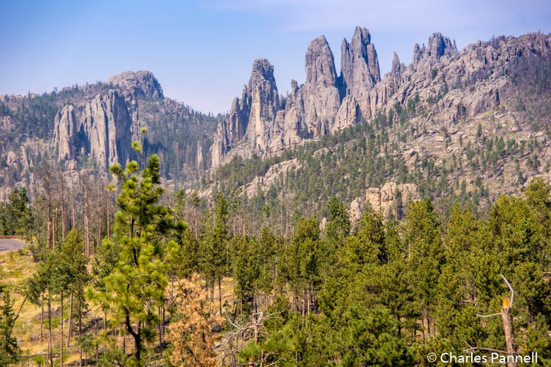 Little Devil's Tower and Cathedral Spires in Custer State Park