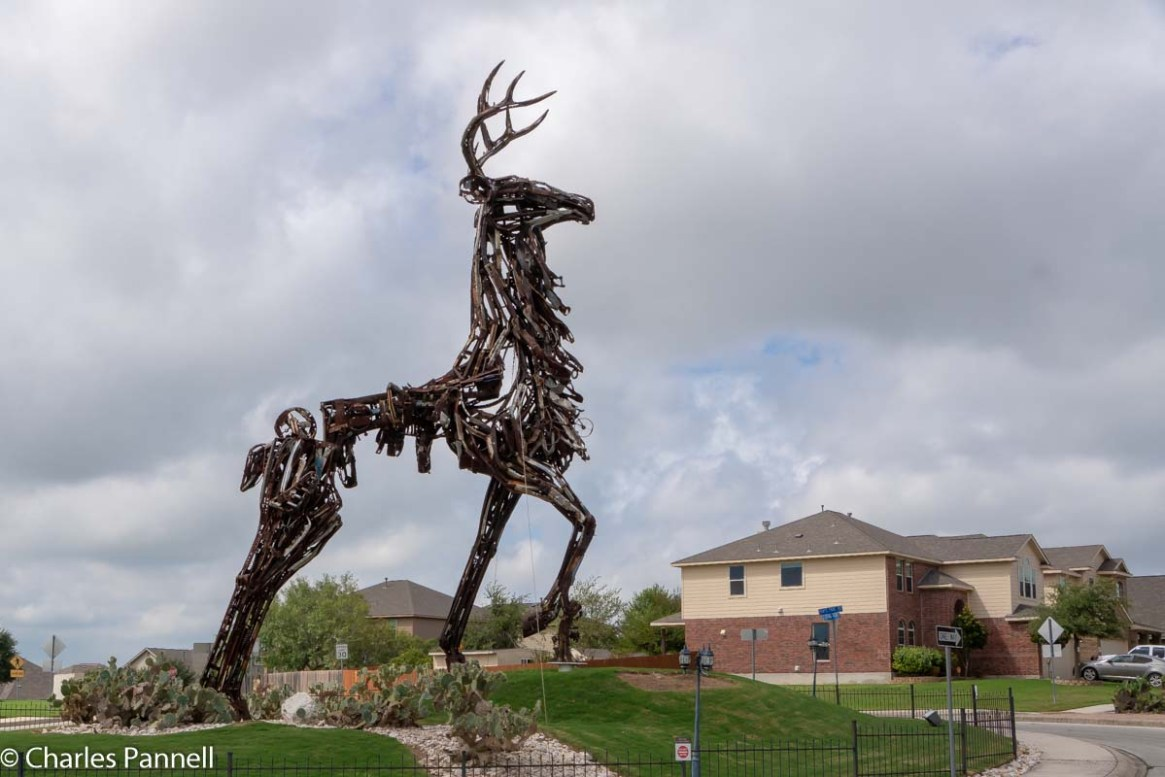 Giant Stag Sculpture in Converse, TX