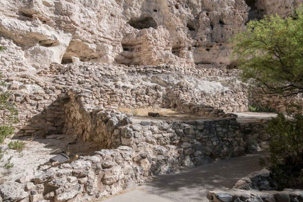 Photo showing ruins along the trail at Montezuma Castle