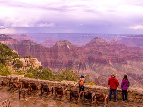 View of the Grand Canyon from the East Terrace at Grand Canyon Lodge North Rim