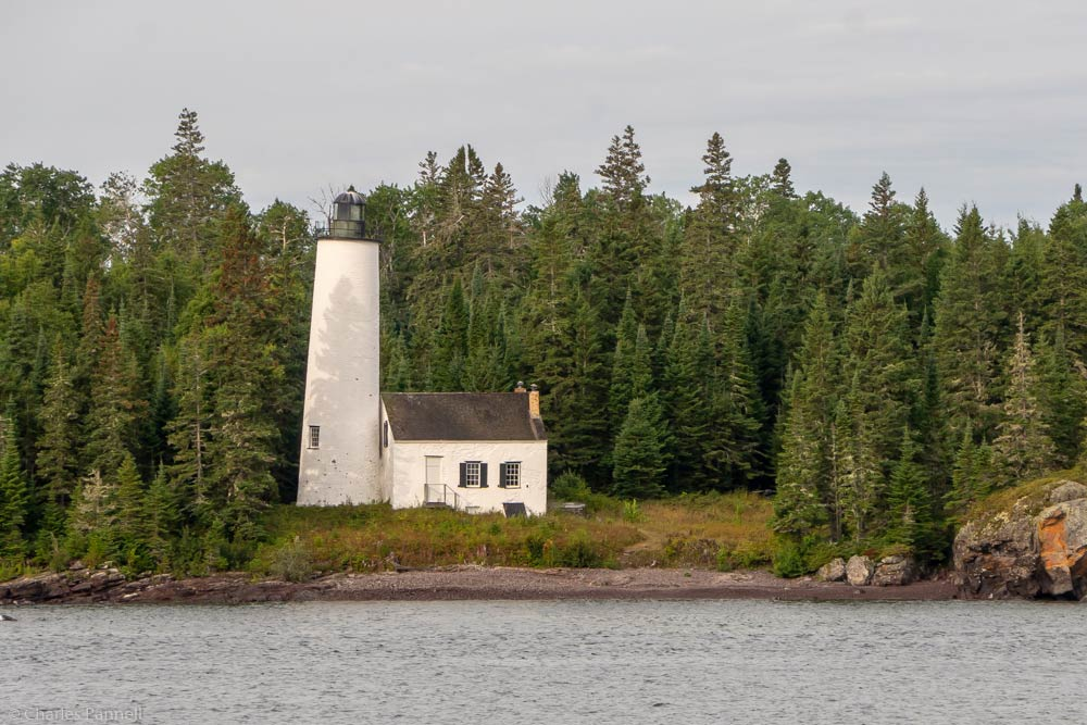 Photo of the Rock Harbor Lighthouse in Isle Royale National Park