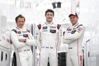Porsche North America Patrick Pilet, Kevin Estre, Nick Tandy (l-r)