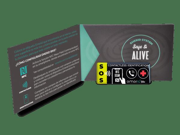 Identificador NFC para bicicletas Emerid Bike foto packaging trasero