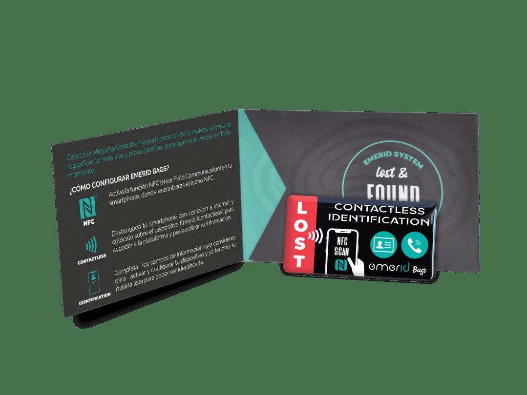 Identificador NFC para equipajes Emerid Bags