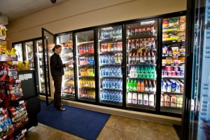 Refrigerated Display Case with Doors