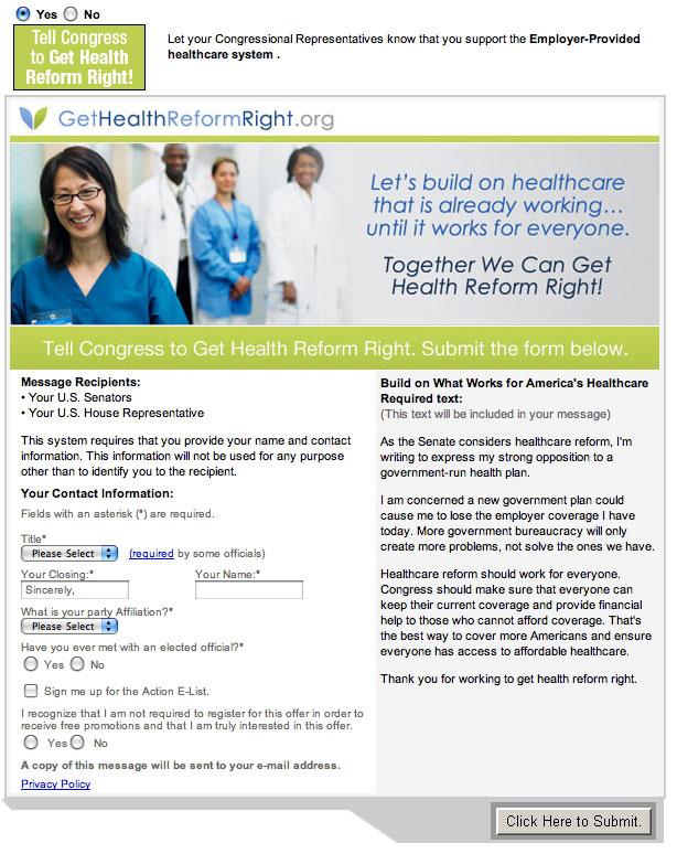 Get Healthcare Reform Right Screenshot