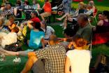 Neighbors gather in Corbin Park