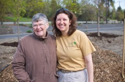 Angel of Spokane Urban Forestry and Nancy MacKerrow of the Susie Forest.