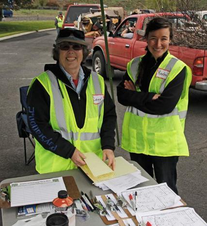 Sign-in volunteers