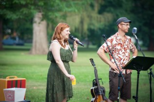 The Sara Brown Band performs as a duet