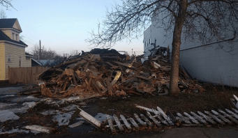 Demolished home (January 2018) at 1320 N Lincoln St.