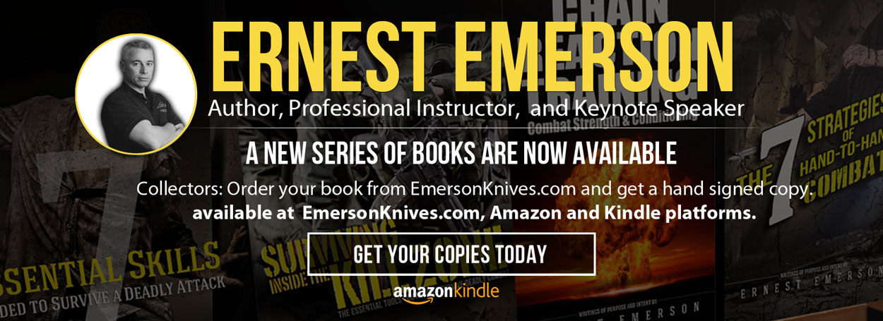 Author Ernest Emerson Autographed Books available on EmersonKnives.com