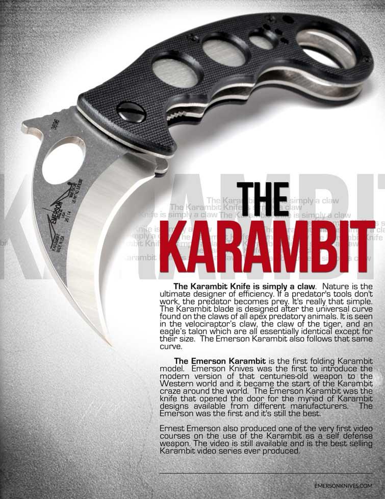 The Emerson Karambit The First folding Karambit model knife