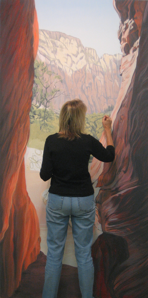 painting my way out of the canyon!