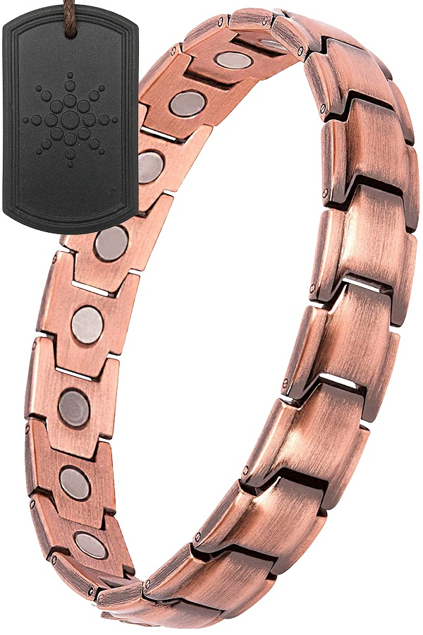 Copper Magnetic Bracelet Therapy For Arthritis Pain Relief