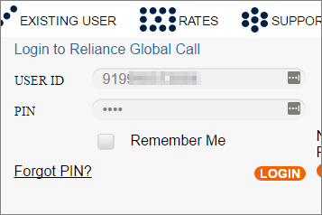 relianceglobalcall-login