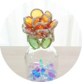 ガラスのバラを咲かせよう!芳香剤キャップ