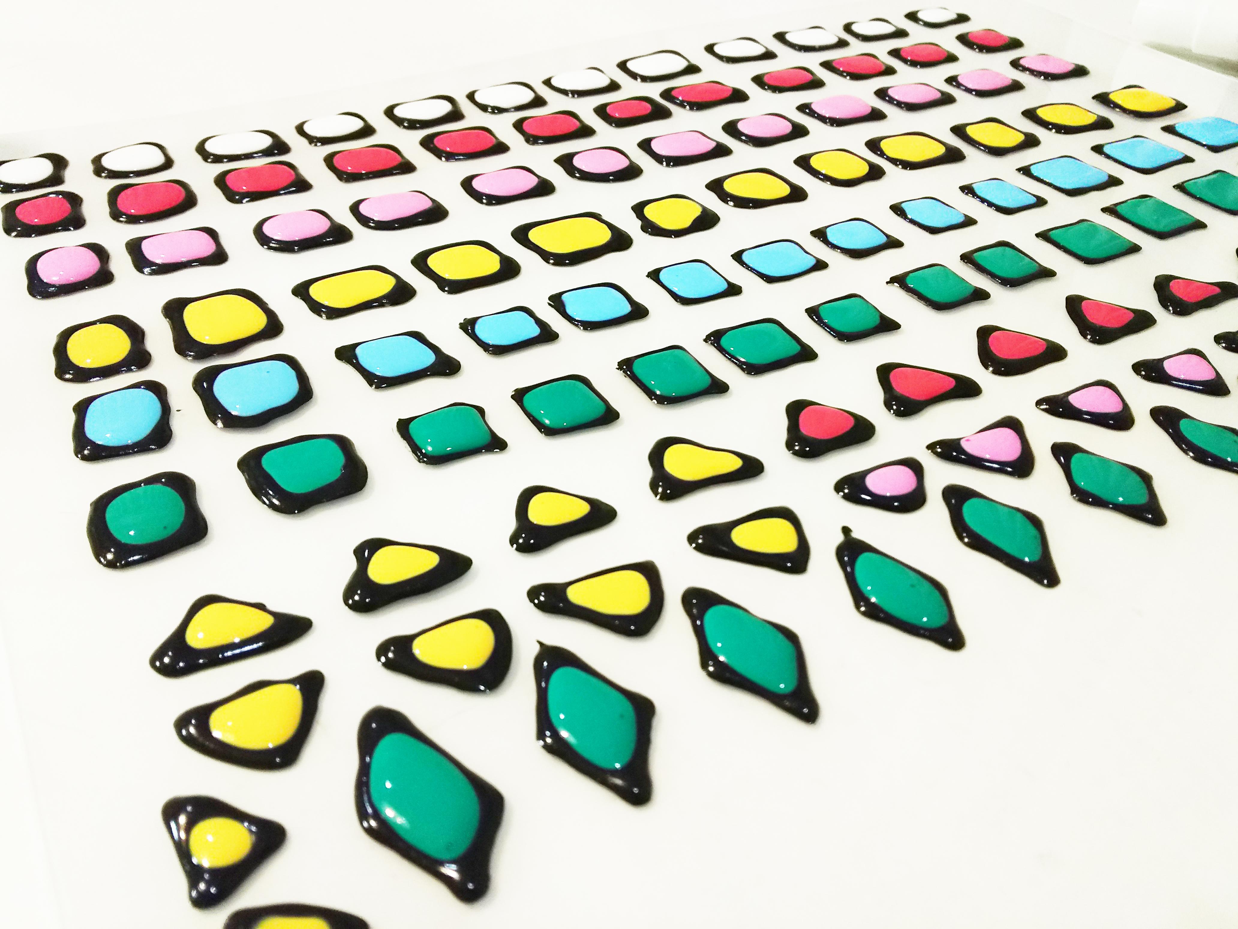 100均ガラス絵の具