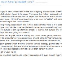 "Thread: ""What is life like in NZ for permanent living"""