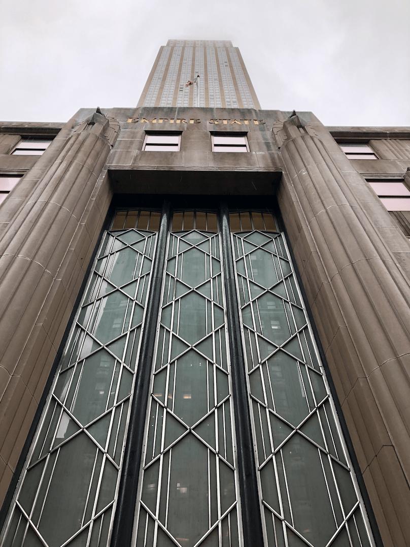 Emigreren Gran Canaria - Reisverslag - Hoogtepunten van NY - Amerika reis deel 4 - Ingang Empire State Building
