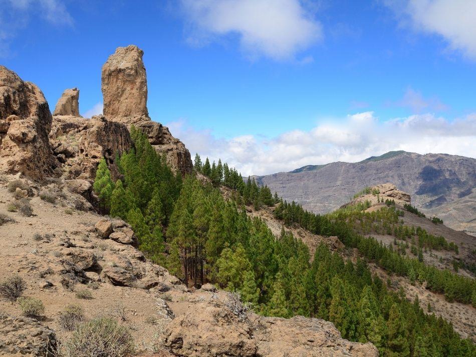 De wolkenrots Roque Nublo op Gran Canaria