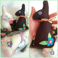 actually just bunnies made from felt but there are nice Easter basked stuffers anyway! found on https://www.instagram.com/lotusandnightshade/