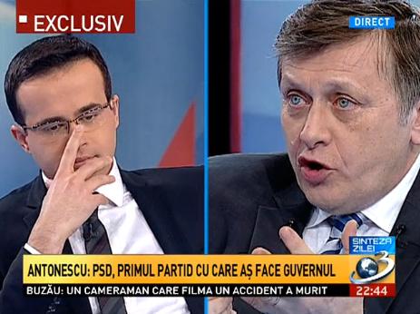 Mai tineti minte aparitia lui Crin Antonescu la Antena 3?