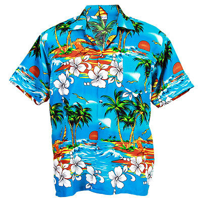 Camasa Hawaii Albastra