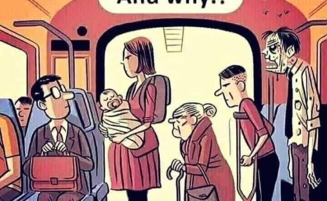 Cui i-ai ceda locul in autobuz
