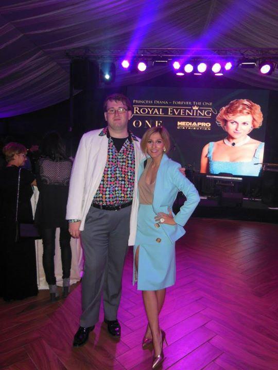 Eu si Dana Rogoz, o poza facuta in 2013, la Gala Diana