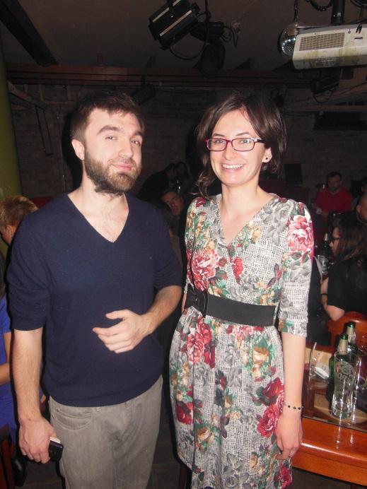 Actorul Stefan Nistor alaturi de autoarea acestui articol, Cristina