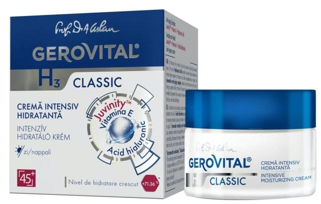 cele mai bune cosmetice gerovital H3 classic crema intensiv hidratanta