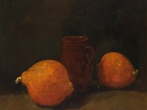Emil Carlsen : Still life with fruit, 1866.