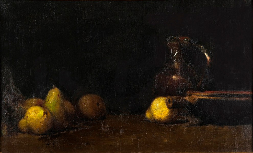 Emil Carlsen : Pitcher with pears, ca.1883.