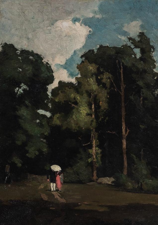 Emil Carlsen : Promenade, 1876.