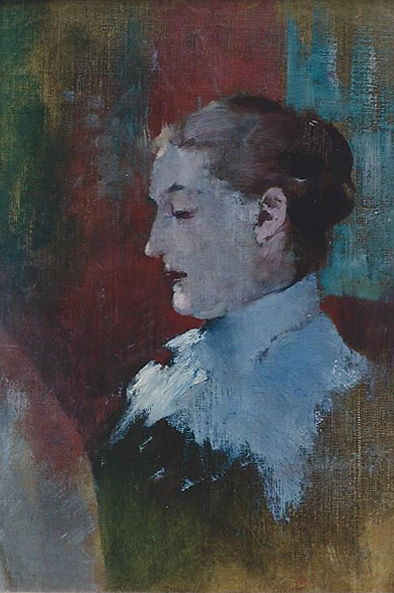 Emil Carlsen : Portrait of Luella May Carlsen (The artist's wife), ca.1896.