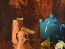 Emil Carlsen : Still life with green tea pot, ca.1889.