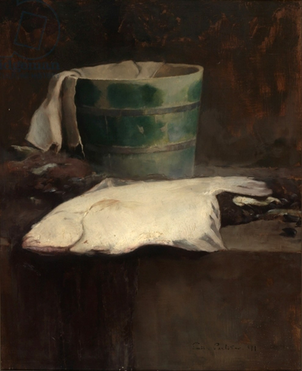 Emil Carlsen : Still life with fish, 1891.