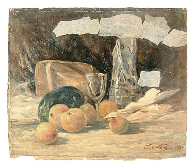 Emil Carlsen : Fruit and goblet, 1894.